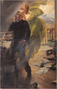 """Green Muse"" by Albert Maignan"