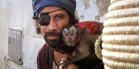 Evil Capuchin monkey in Raiders of the Lost Ark 1981 LucasFilm Ltd.