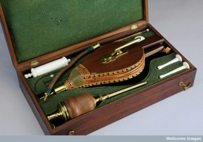 Tobacco smoke enema kit by Wellcome Images (CC BY-SA-4.0)